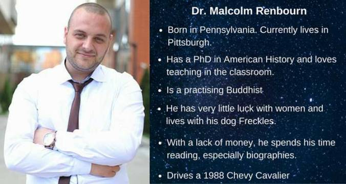 Dr Malcolm Renbourn character card